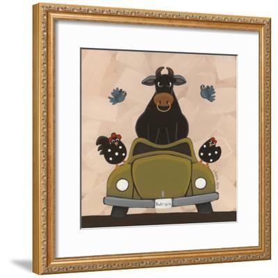 Bull-Sit-Annie Lane-Framed Giclee Print