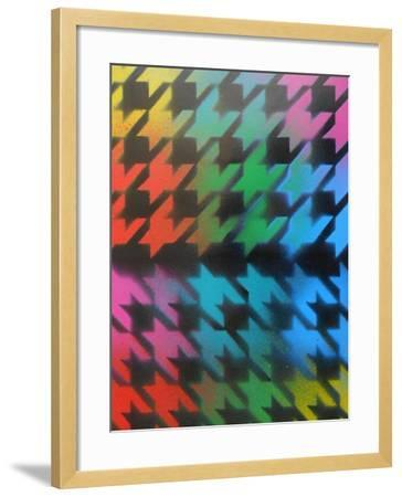 Houndstooth-Abstract Graffiti-Framed Giclee Print