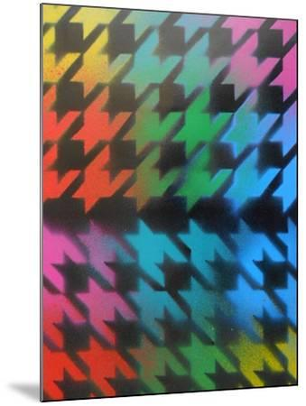 Houndstooth-Abstract Graffiti-Mounted Giclee Print