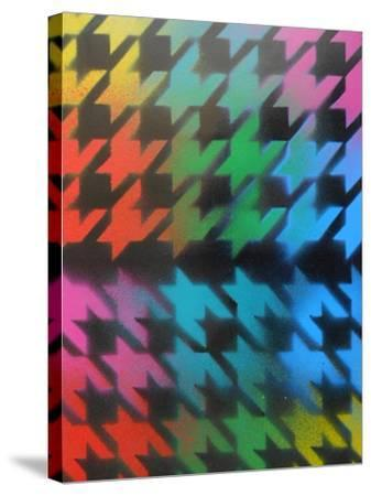 Houndstooth-Abstract Graffiti-Stretched Canvas Print