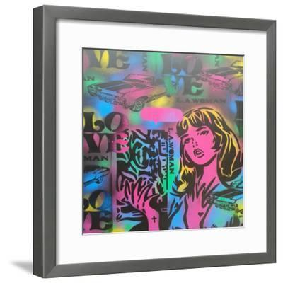 Iconic Love-Abstract Graffiti-Framed Giclee Print
