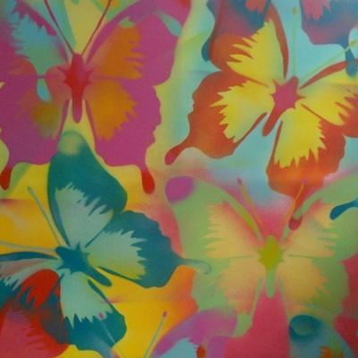 Butterflies-Abstract Graffiti-Premium Giclee Print