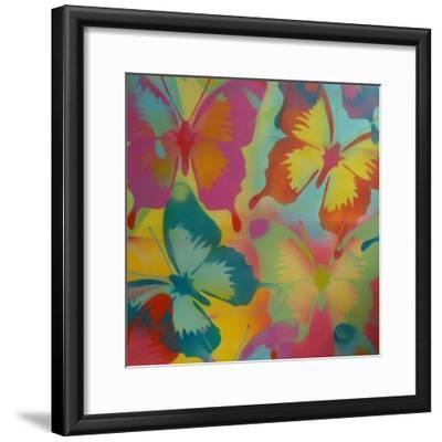 Butterflies-Abstract Graffiti-Framed Giclee Print