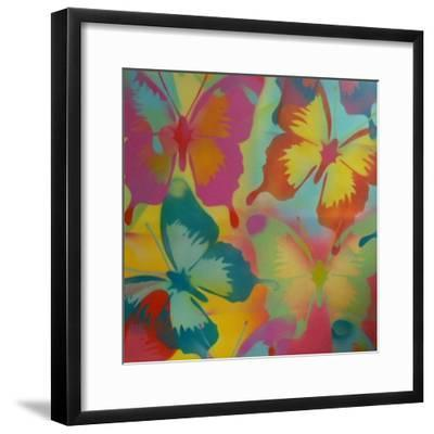 Butterflies-Abstract Graffiti-Framed Giclee Print