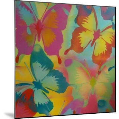 Butterflies-Abstract Graffiti-Mounted Giclee Print