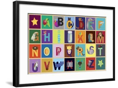 Object ABC-Ali Lynne-Framed Giclee Print