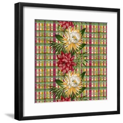 Cereus Plaid Multi-Bill Jackson-Framed Giclee Print