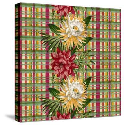 Cereus Plaid Multi-Bill Jackson-Stretched Canvas Print