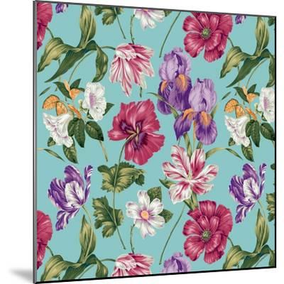 Floral Waltz Aqua-Bill Jackson-Mounted Giclee Print