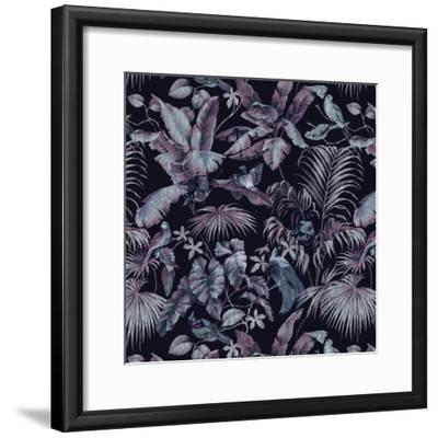 Jungle Canopy Midnight-Bill Jackson-Framed Giclee Print