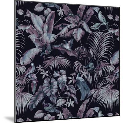 Jungle Canopy Midnight-Bill Jackson-Mounted Giclee Print