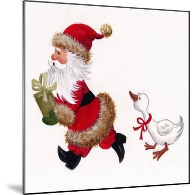Duck Chasing Santa-Beverly Johnston-Mounted Giclee Print