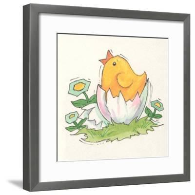 Chick with Egg-Beverly Johnston-Framed Giclee Print