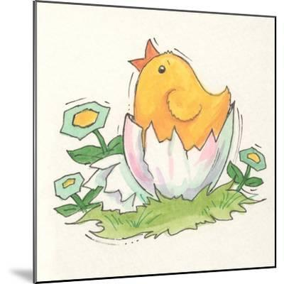 Chick with Egg-Beverly Johnston-Mounted Giclee Print