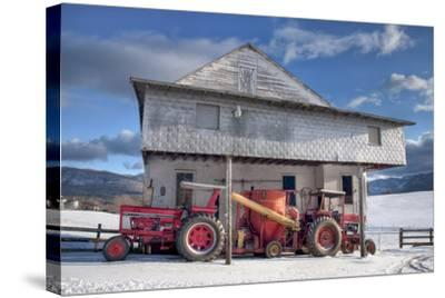 Winter at the Mill-Bob Rouse-Stretched Canvas Print