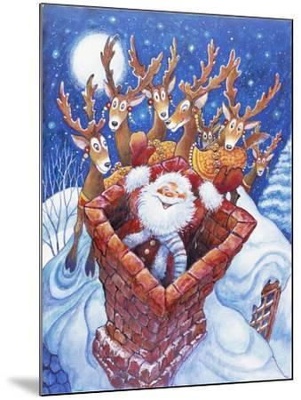 Reindeer Watch Santa Slide Down Chimney-Bill Bell-Mounted Giclee Print