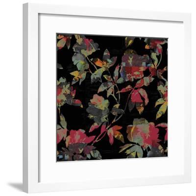 Mudan Silhouette Floral-Bill Jackson-Framed Giclee Print