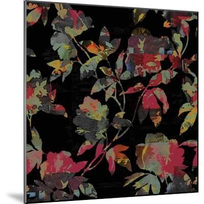 Mudan Silhouette Floral-Bill Jackson-Mounted Giclee Print