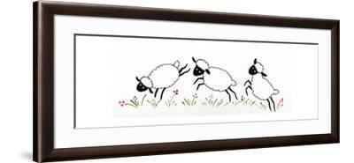 Sheep-Beverly Johnston-Framed Giclee Print