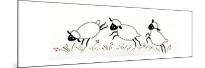 Sheep-Beverly Johnston-Mounted Giclee Print