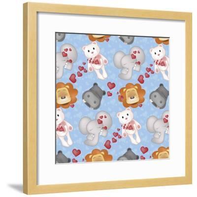 Pattern 1-Asmaa' Murad-Framed Giclee Print
