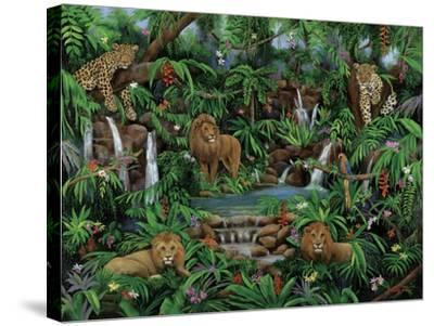 Peaceful Jungle-Betty Lou-Stretched Canvas Print