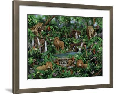 Peaceful Jungle-Betty Lou-Framed Giclee Print