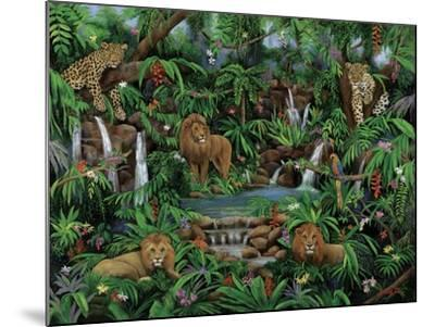 Peaceful Jungle-Betty Lou-Mounted Giclee Print