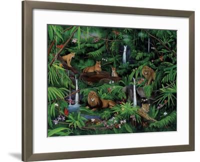 A Den of Lions-Betty Lou-Framed Giclee Print