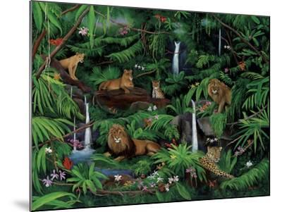 A Den of Lions-Betty Lou-Mounted Giclee Print