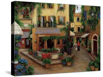 Parisian Cafés-Betty Lou-Stretched Canvas Print