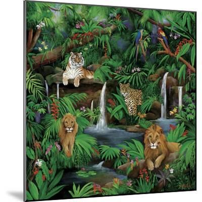Paradise Jungle-Betty Lou-Mounted Giclee Print