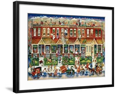 Row Houses-Bill Bell-Framed Giclee Print