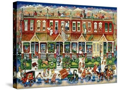 Row Houses-Bill Bell-Stretched Canvas Print