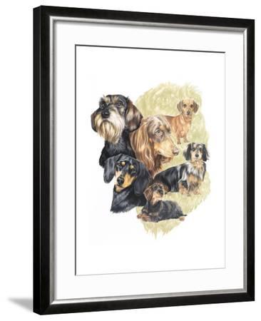 Dachshund-Barbara Keith-Framed Giclee Print