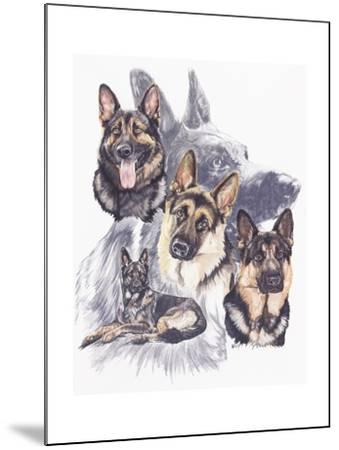German Shepard-Barbara Keith-Mounted Giclee Print