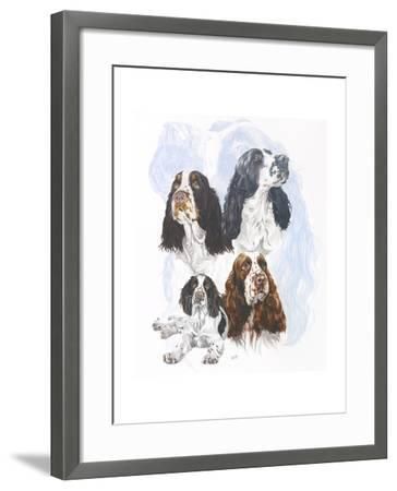 Springer Spaniel-Barbara Keith-Framed Giclee Print