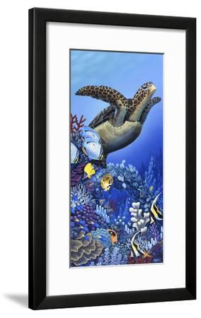 Flight of the Sea Turtle-Apollo-Framed Giclee Print