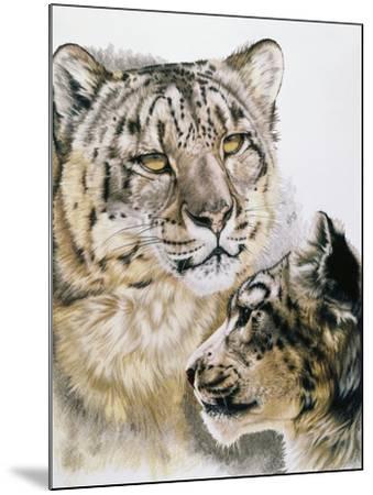 Panthera Uncia-Barbara Keith-Mounted Giclee Print