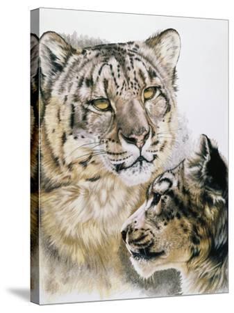 Panthera Uncia-Barbara Keith-Stretched Canvas Print