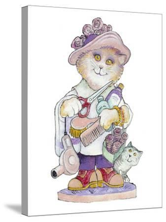 Clipper Cat-Bill Bell-Stretched Canvas Print