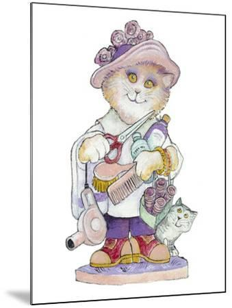 Clipper Cat-Bill Bell-Mounted Giclee Print
