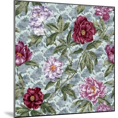 Tree Peony Scroll and Texture-Bill Jackson-Mounted Giclee Print