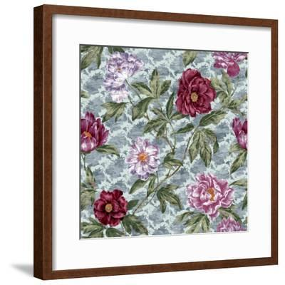 Tree Peony Scroll and Texture-Bill Jackson-Framed Giclee Print