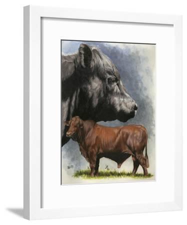 Angus Cattle-Barbara Keith-Framed Giclee Print