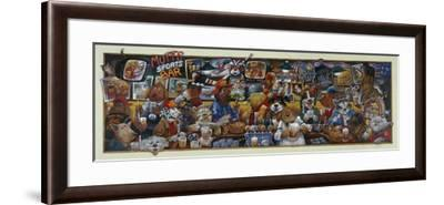 Mo' Mutts Sports Bar-Bill Bell-Framed Giclee Print