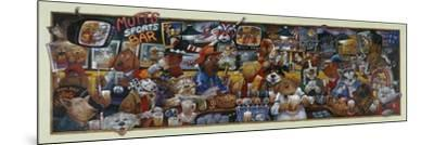 Mo' Mutts Sports Bar-Bill Bell-Mounted Giclee Print