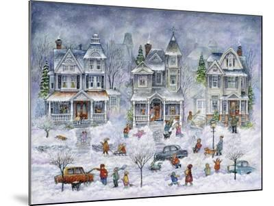 Snowy Streets-Bill Bell-Mounted Giclee Print