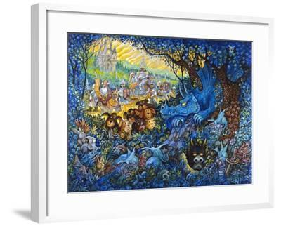 In Search of the Blue Dragon-Bill Bell-Framed Giclee Print