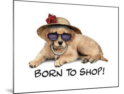 Shop Pup--Mounted Giclee Print